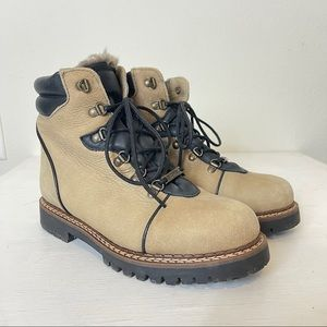 Sorel Vintage Wool Lined Hiking Boots Size 9.5